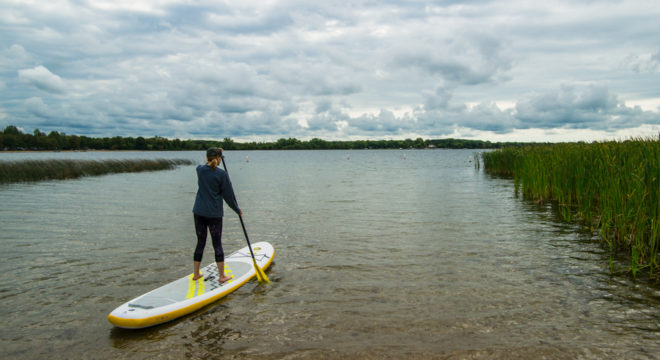 Paddle boarding at Lake Carlos State Park