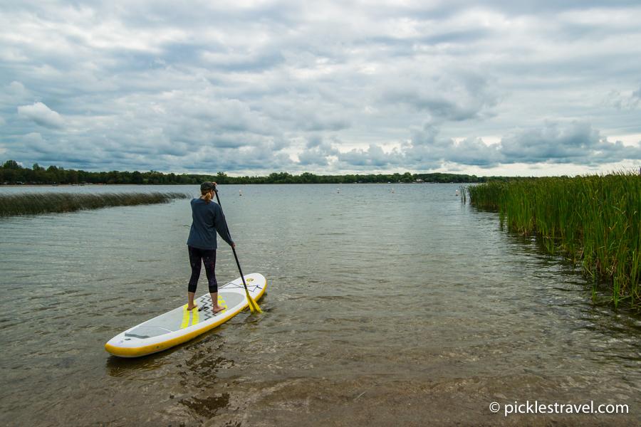 Paddle boarding at Lake Carlos State Park
