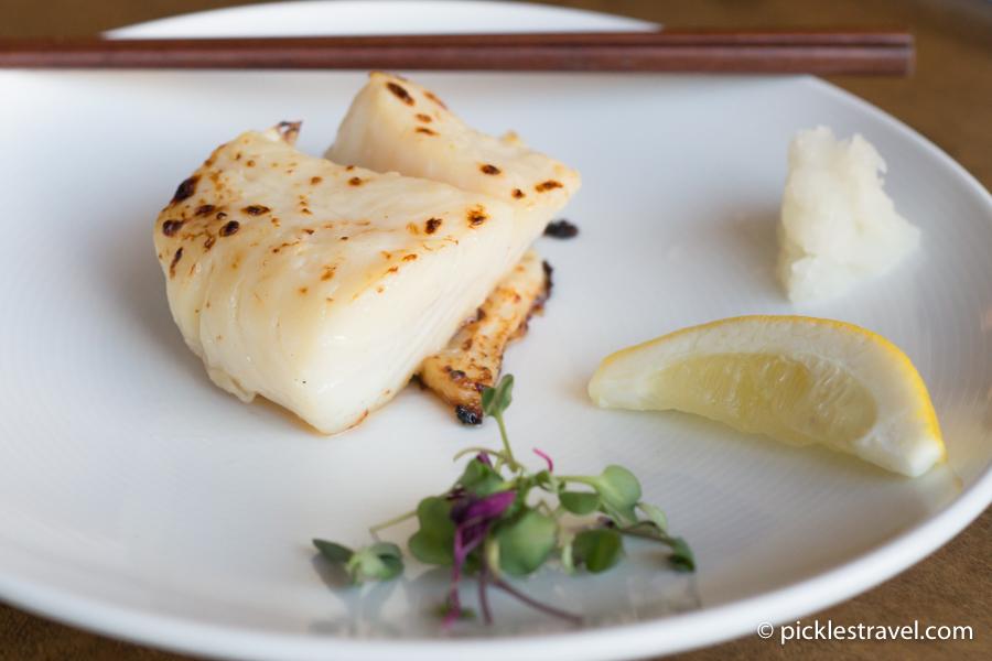Kyatchi taro shiro miso yaki: Alaskan cod