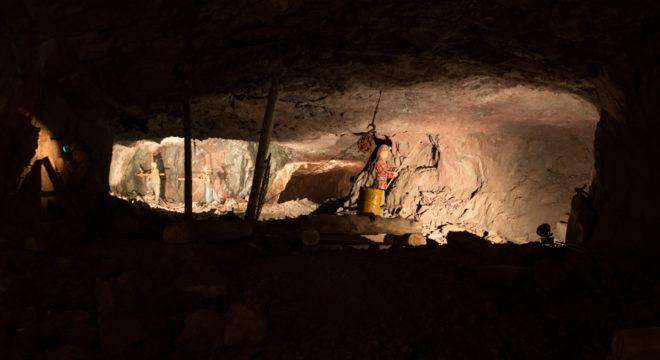 1/2 mile underground at Soudan Underground Mine