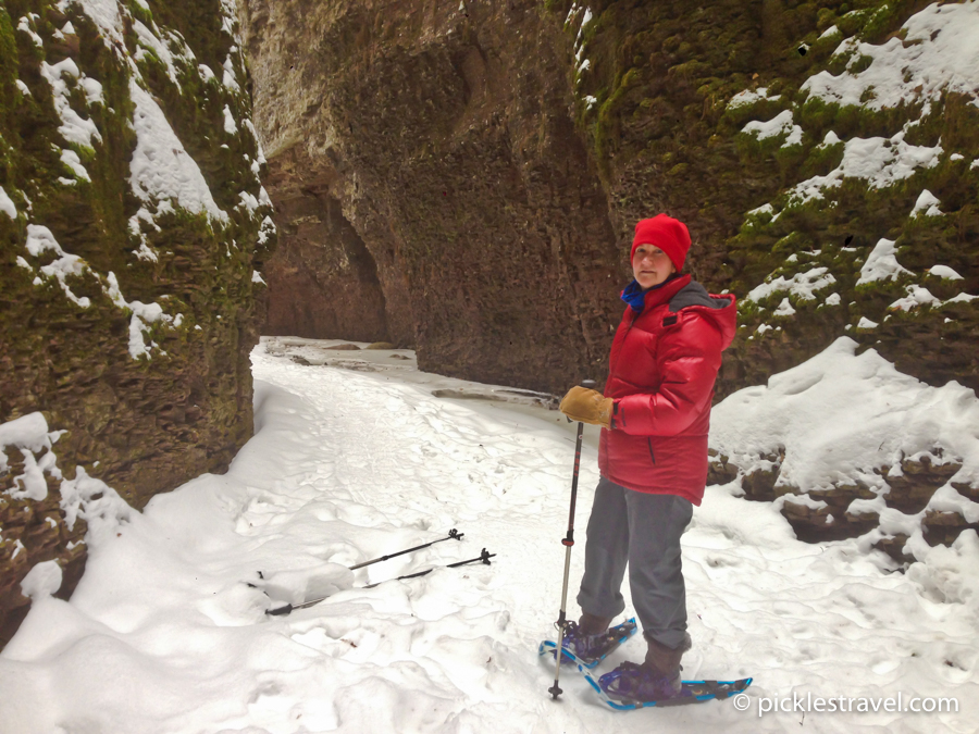 snow shoeing on the north shore