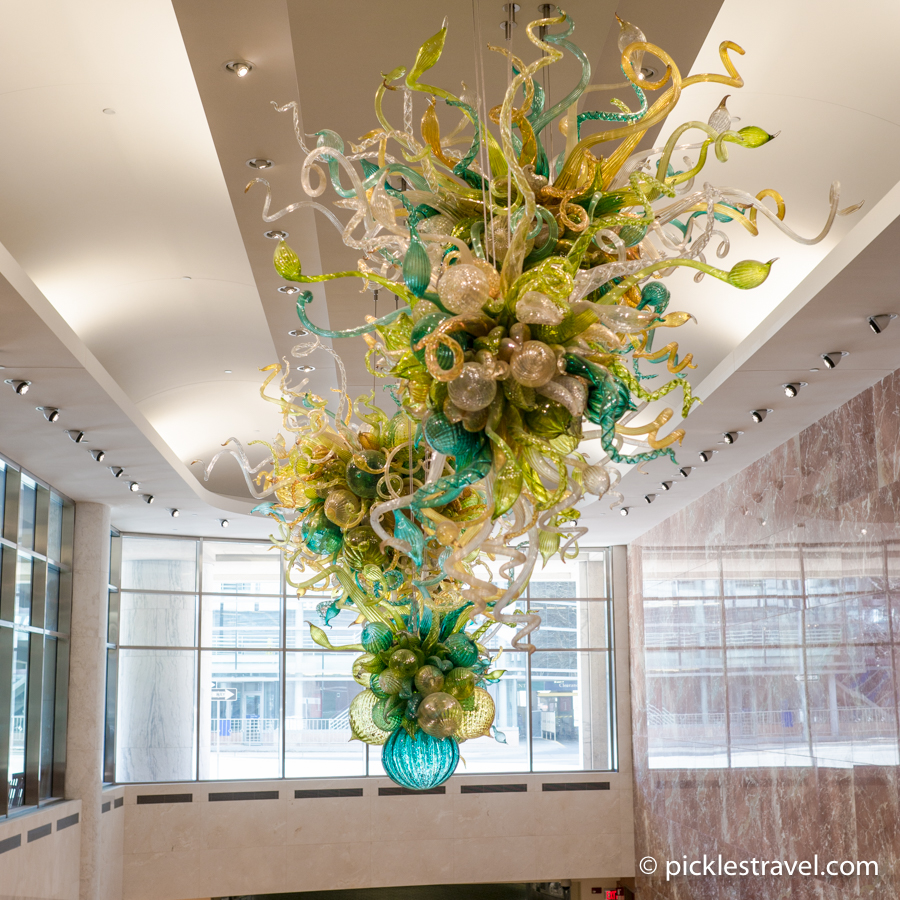 Dale Chihuly glass at Mayo Clinic Rochester