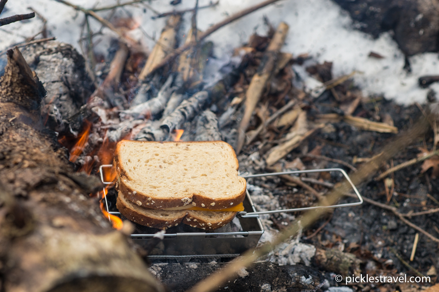 How to make a grilled cheese sandwich on the Heritage Packable Grill