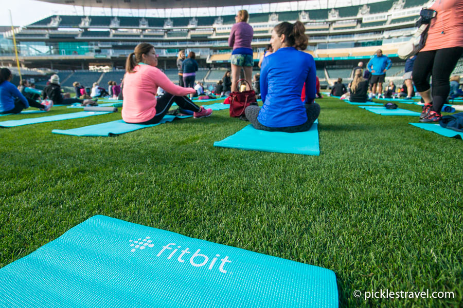Free Fitbit local workout and Yoga in Target field, Twins Stadium
