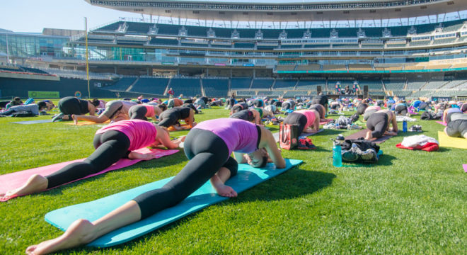 Fitbit Local included Free Yoga in Target field, Twins Stadium