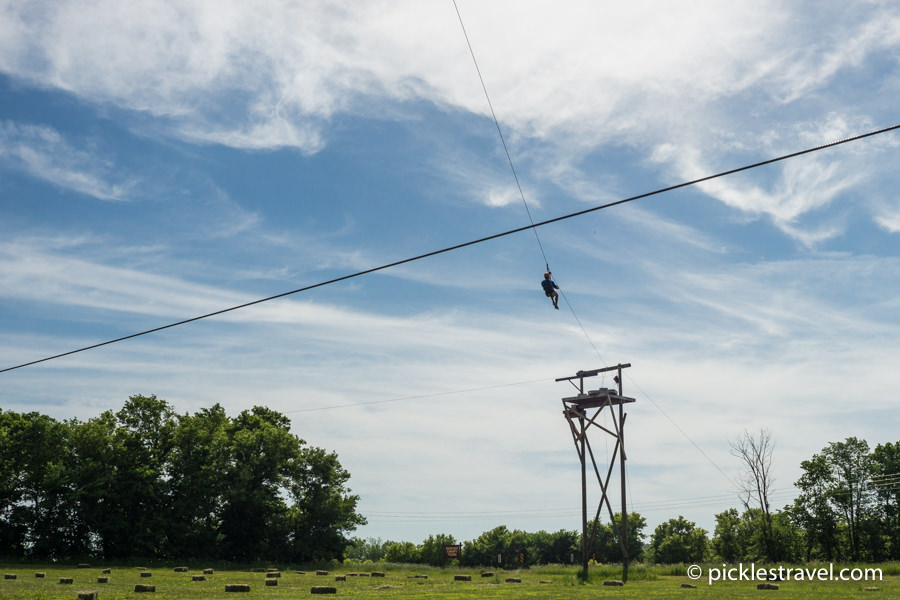 Zip line outdoor adventure in Minnesota