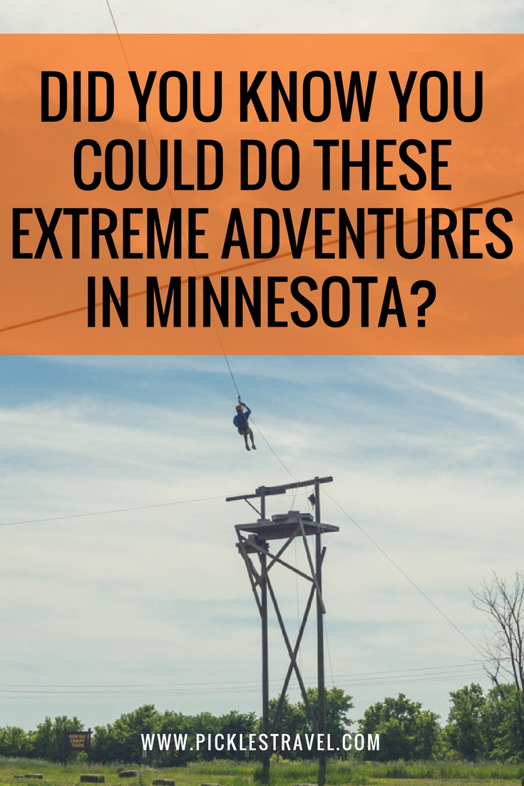 Extreme Outdoor Adventure and things to do in Minnesota that doesn't involve a lake that you need to try this summer and fall.