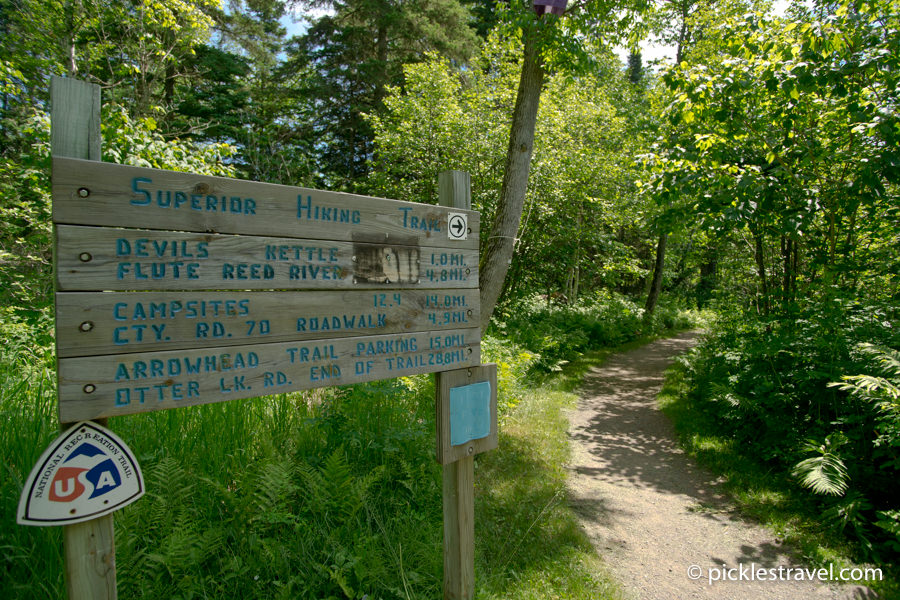 Judge C Magney and Superior Hiking Trail meet
