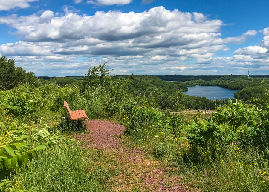 Overlooking Huntington Mine Lake in Cuyuna Country State Park