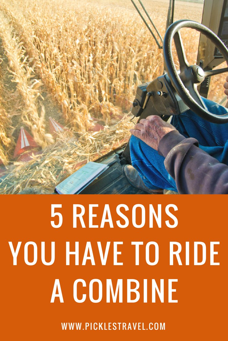 Fall has so many wonderful activities like corn mazes and apple farms but harvest is the biggest of them all and riding in a combine the biggest and grandest of all the activities. Here are 5 reasons that everyone should ride a combine, especially educational for children.