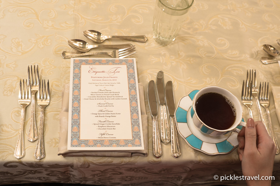 Etiquette Tea at the Saint Paul Hotel