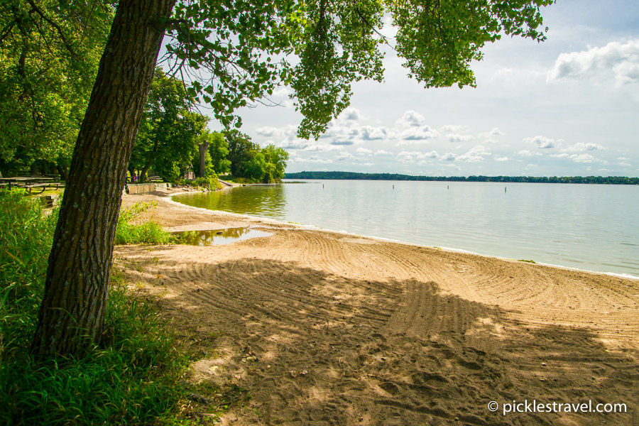 Lakes for fishing, boating and enjoying at Sibley State Park in Minnesota