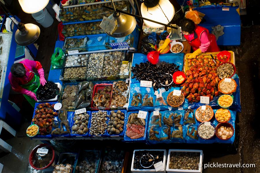 Seafood Choices at Fish Market