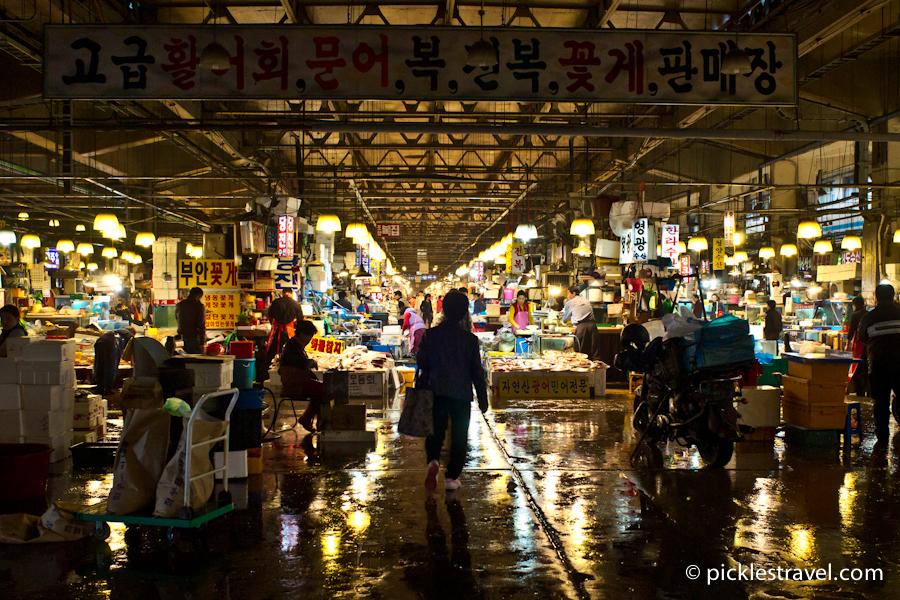 Entering the Noryangin fish market