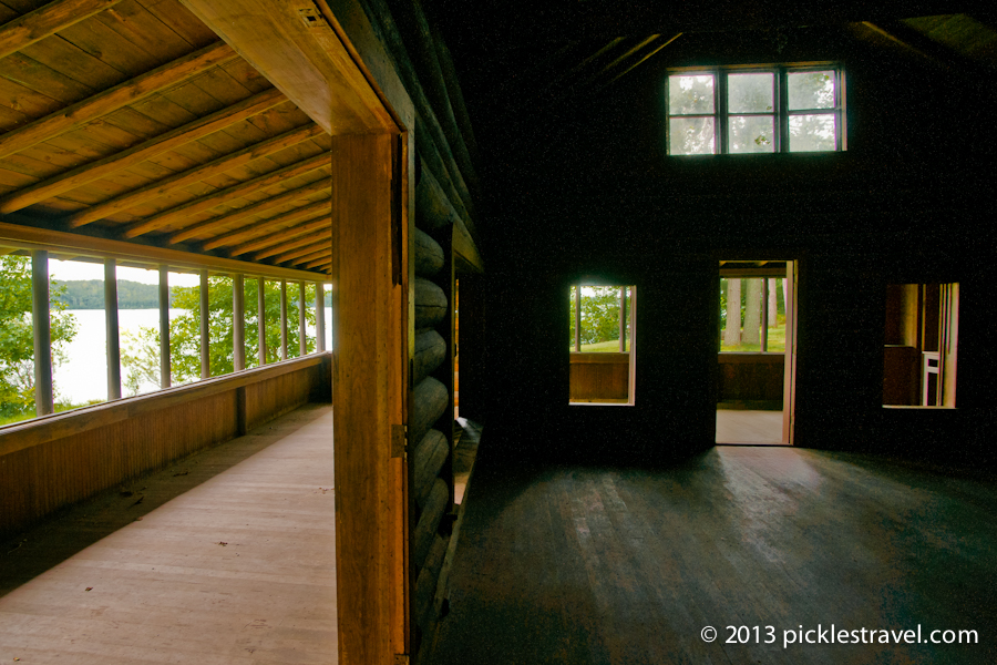 Inside Lodge and View