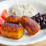 Plantains with Black Beans and Rice