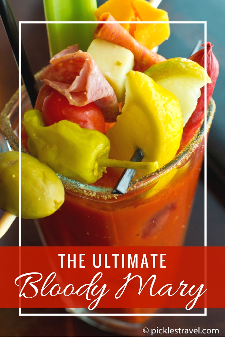 The best homemade bloody mary recipe is easy, spicy and made with clamato juice, then topped with anything you can imagine- like shrimp, cheese and meat sticks!