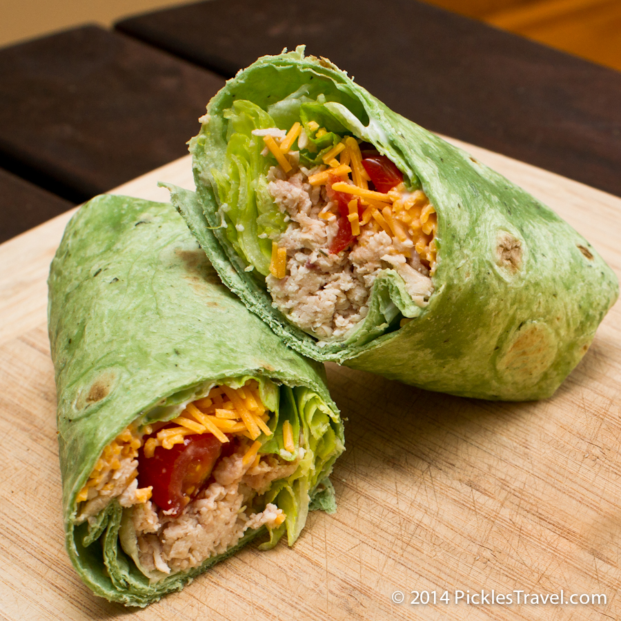 Simple Chicken Wrap Sandwich Recipe