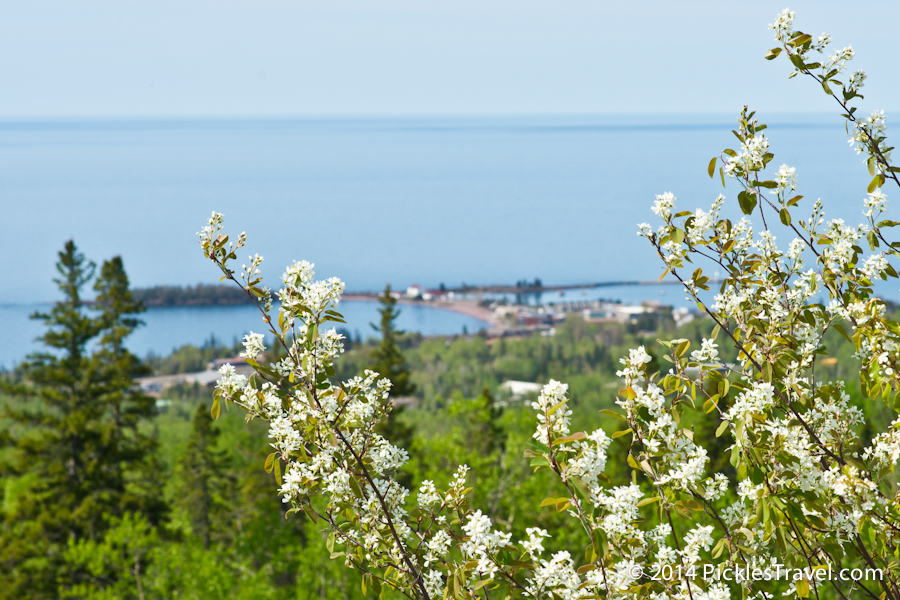 Looking down on Grand Marais from Superior Hiking Trail