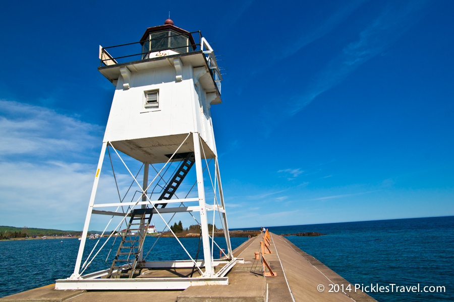 Grand Marais Harbor lighthouse