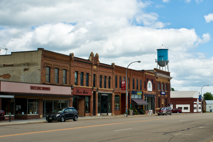 Downtown Amboy and Watertower