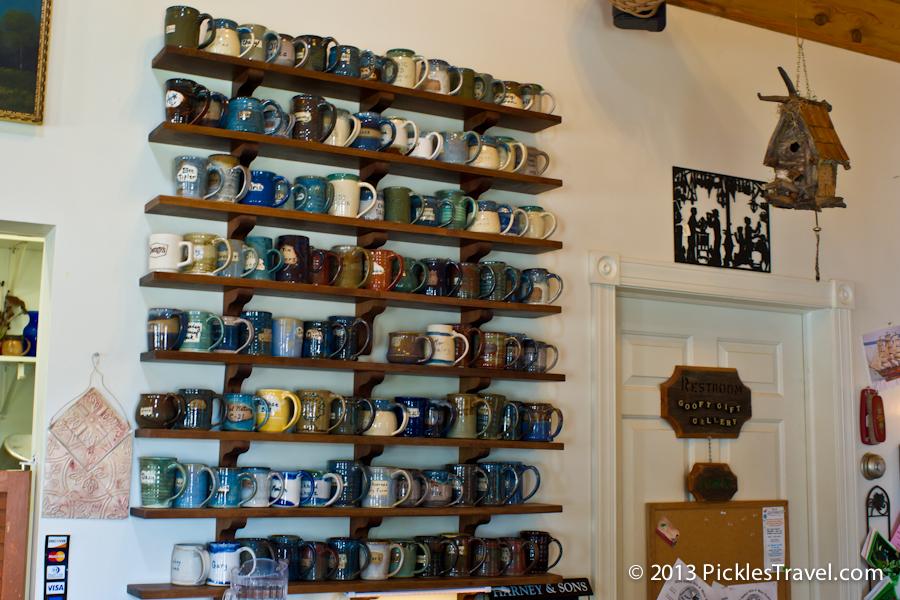 Amboy Cottage Cafe lineup of mugs
