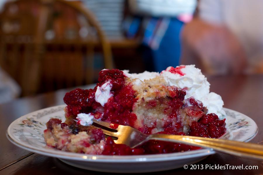 Amboy Cottage Cafe Raspberry bread pudding