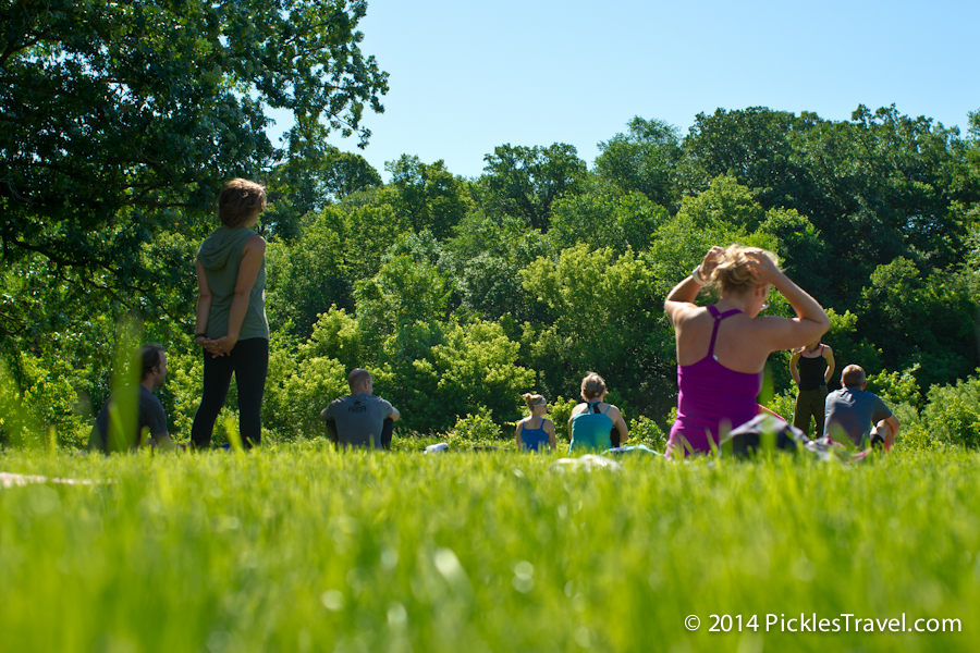 Yoga in the grass