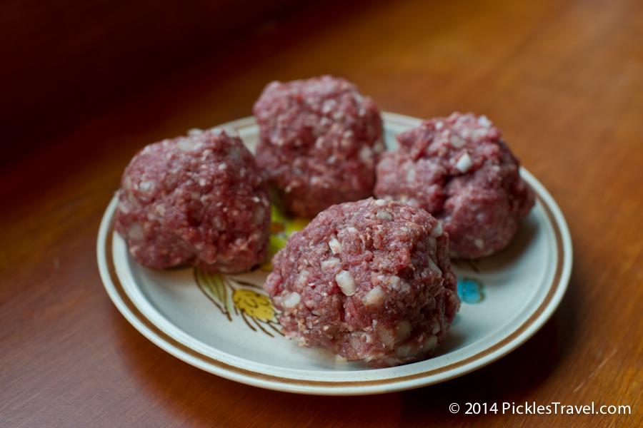 venison burger meatballs