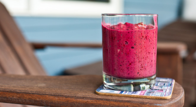 Smoothie- Wild raspberry and banana drink