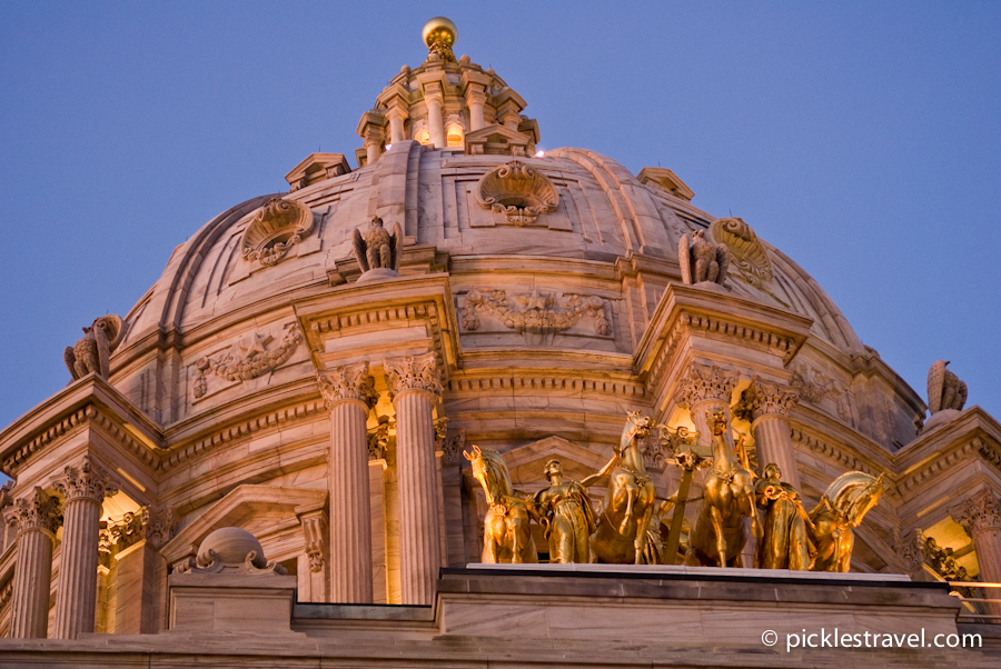 Golden Horses at the MN State Capitol Building