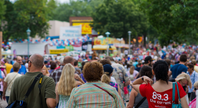 Great MN Get Together- Crowds fill Judson Ave at Minnesota State Fair