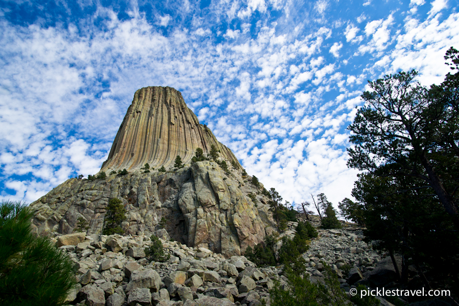 Devil's Tower sticking out of the ground