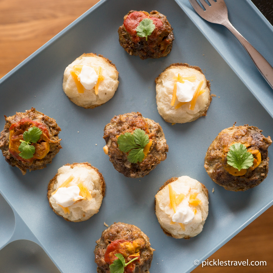 Meatball and Potato Appetizers