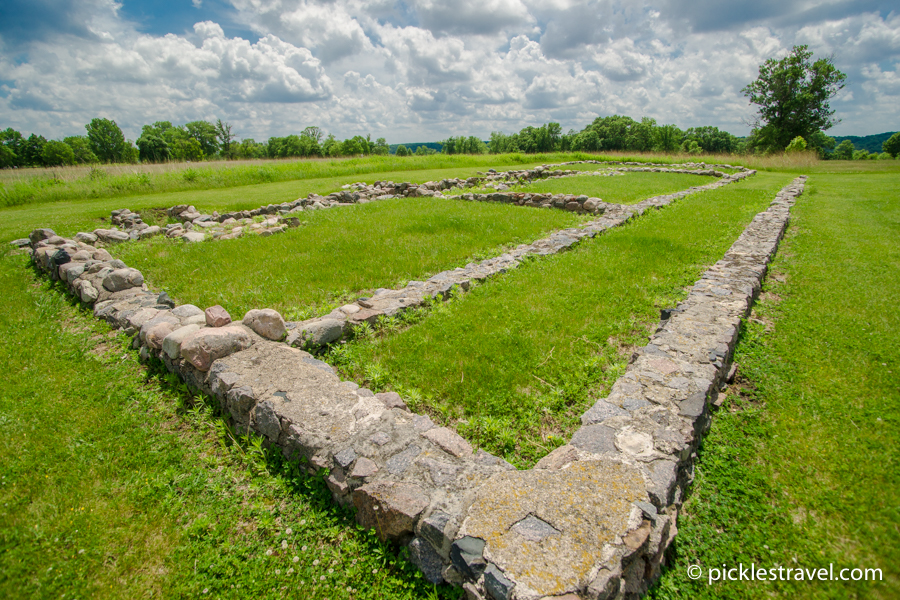 Strolling along the ruins at Fort Ridgely