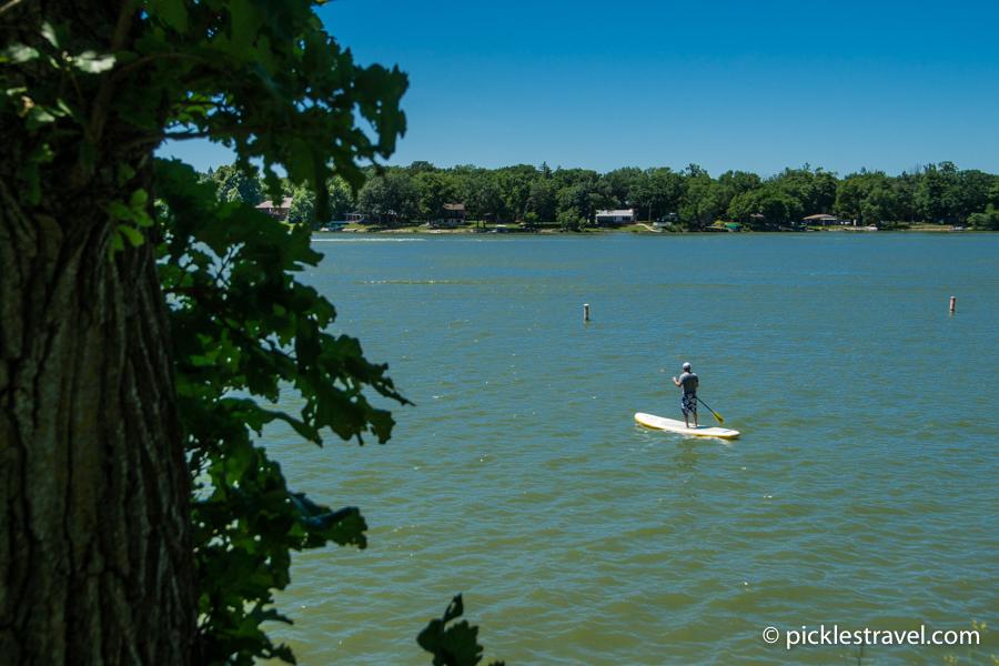 SUP paddle boarding on Lake Shetek State Park