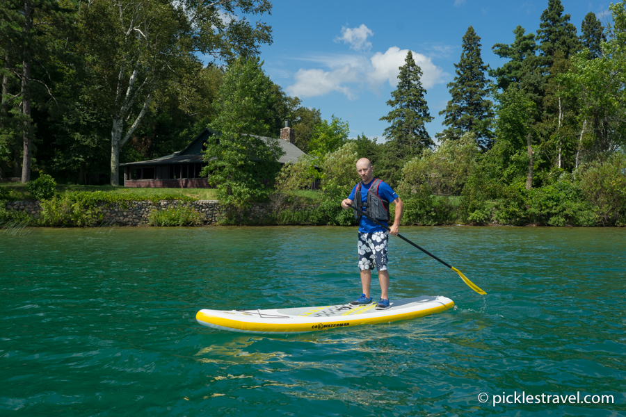 Paddle Boarding at Joyce Estate