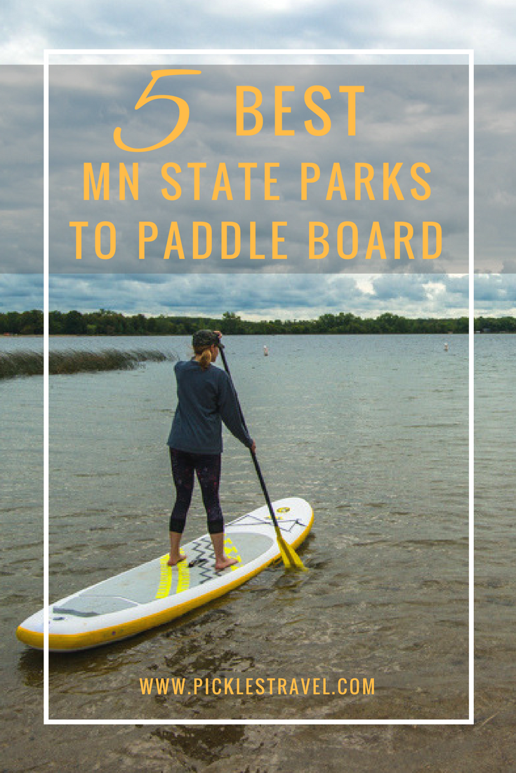 The top 5 Minnesota State Park destinations where you can SUP Paddle board and even bring along your dog! The land of 10,000 lakes has lots of choices for water sports but if you want to explore a state park at the same time add these midwest locations to your bucket list.