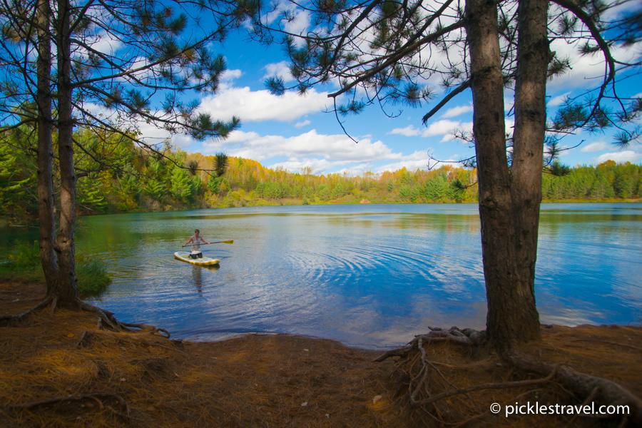 SUP on Yawkey Mine Lake