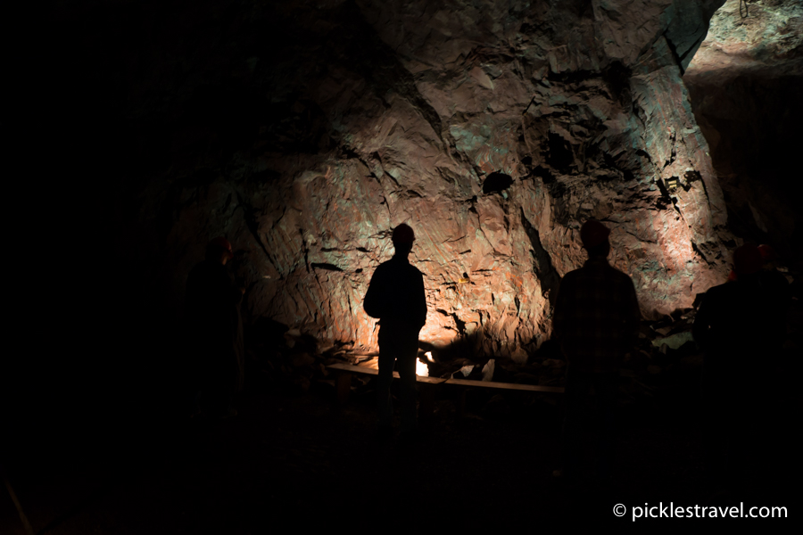 Not quite pitch black at Soudan Underground Mine