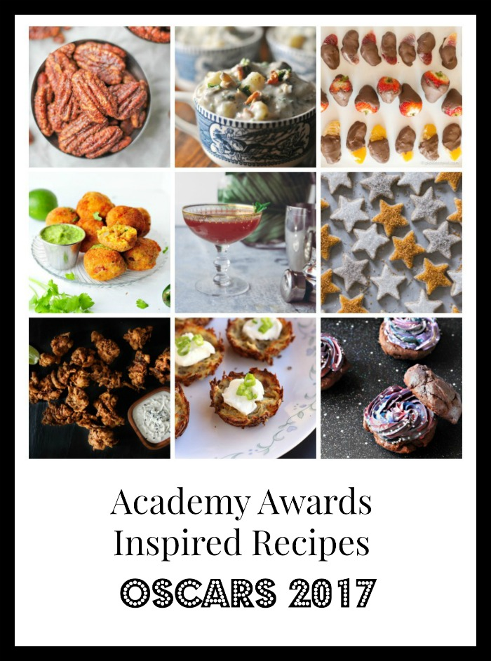 Whether you're hosting or just eating these appetzier recipes are the best of the best for celebrating the Oscars. All of them are based off the movies that were elected for best picture. Enjoy your party and your sweets and savory treats