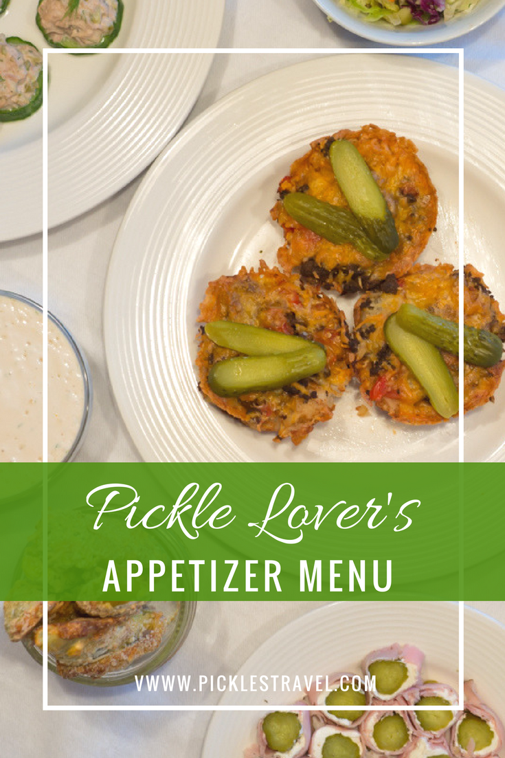 Dill Pickle Recipes for appetizers for the perfect Super Bowl Party from pickle roll ups to deviled eggs to dips and salads and fried pickles that will make hosting this party easy. The Pickle Lovers Appetizer Menu is delicious and made to please.