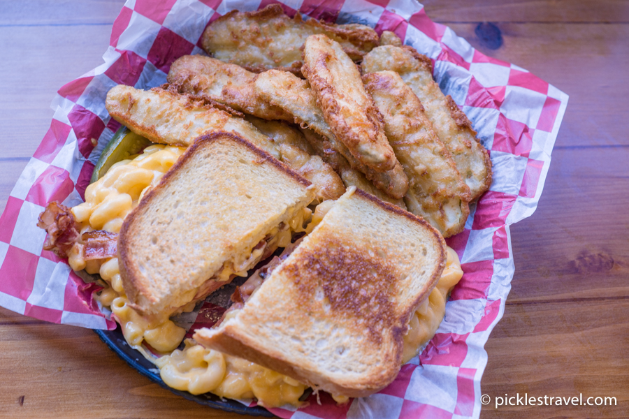 Newts mac and cheese grilled cheese