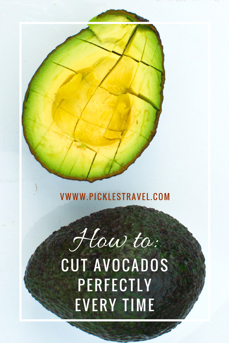 How to Perfectly Cut an Avocado every time so that they look beautiful on a plate or in a salad as slices or cubes. Great foodie presentation is key with avocados.