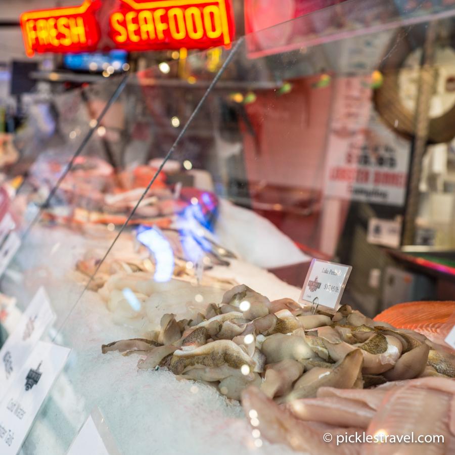 Seafood at Milwaukee public market