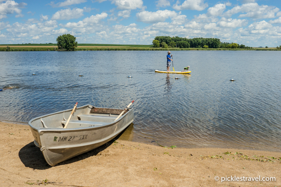 Boating, Swimming and paddle boarding at Split Rock Creek state Park