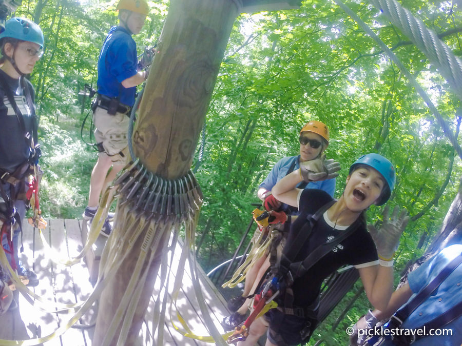 excitement of the outdoor adventure in Minnesota of zip lining