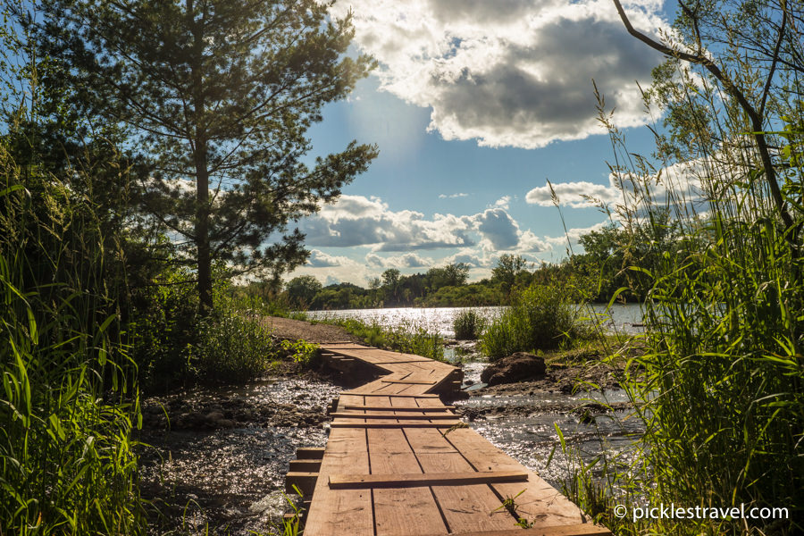 Cuyuna Country State Recreation Area for mountain biking and paddle sports
