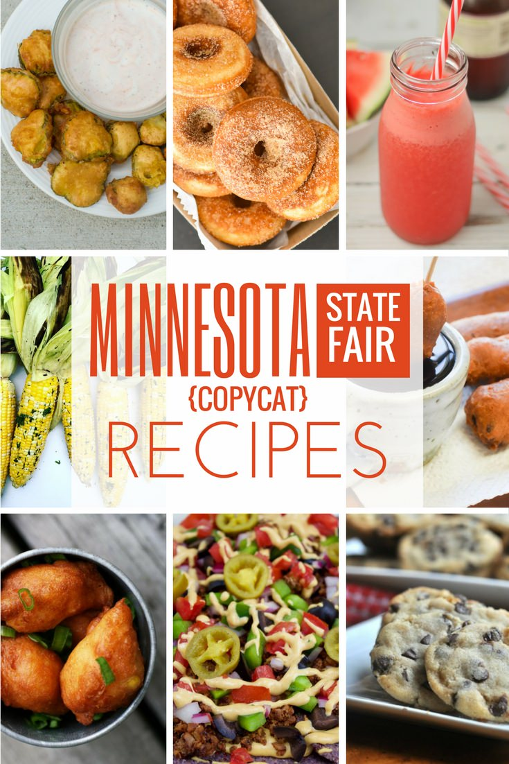 Minnesota State Fair recipes for all the amazing food like fried pickles, mini donuts, roasted corn on the cob, sweet martha's cookies and more. All recipes are kid friendly and deliciously easy to make at home