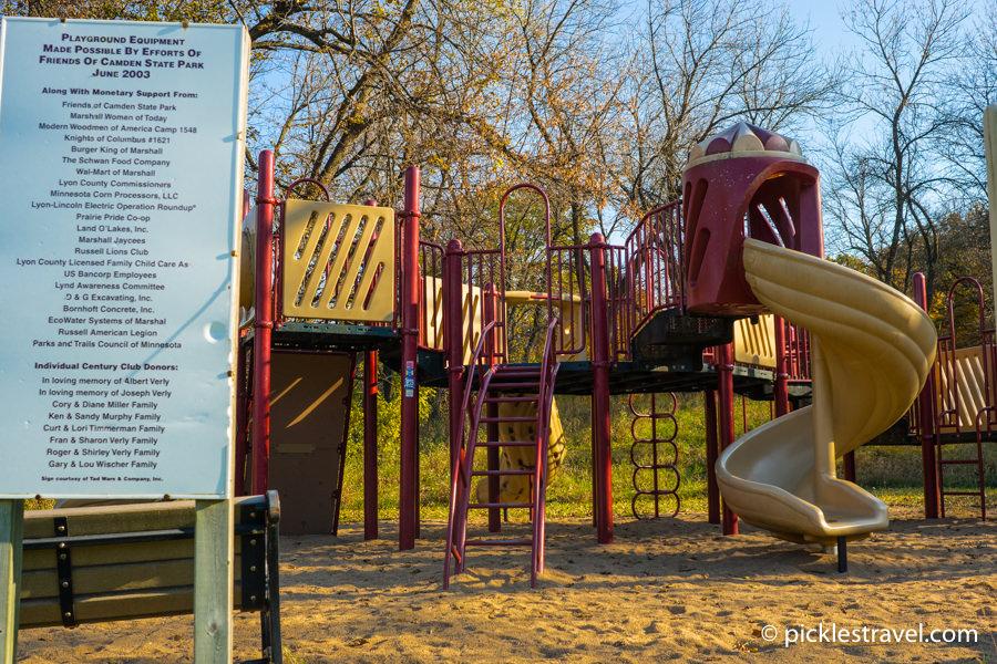 kid friendly playground equipment at Camden State Park